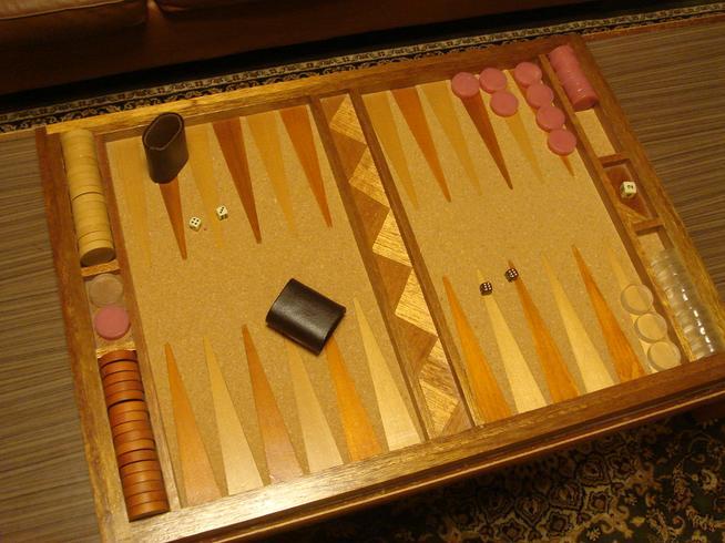 木製バックギャモン自作