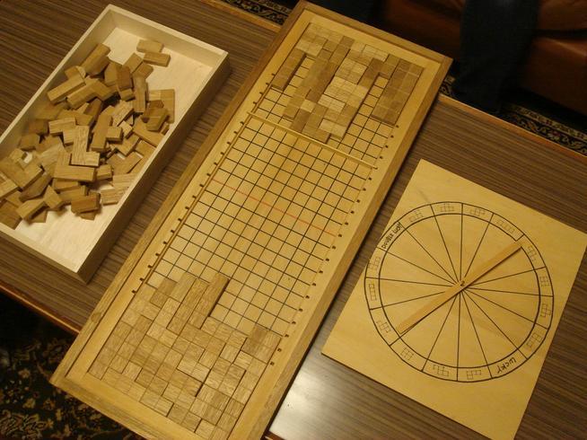 木製対戦型テトリス自作