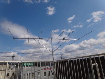 FMラジオ水平偏波用アンテナに