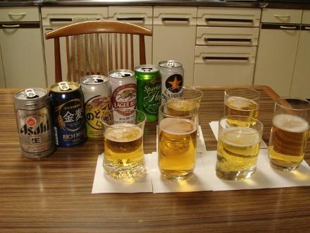 ビールと発泡酒の飲み比べ