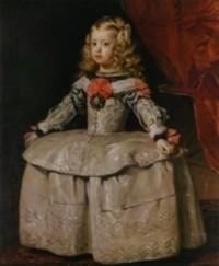 白いドレスのマルガリータ王女
